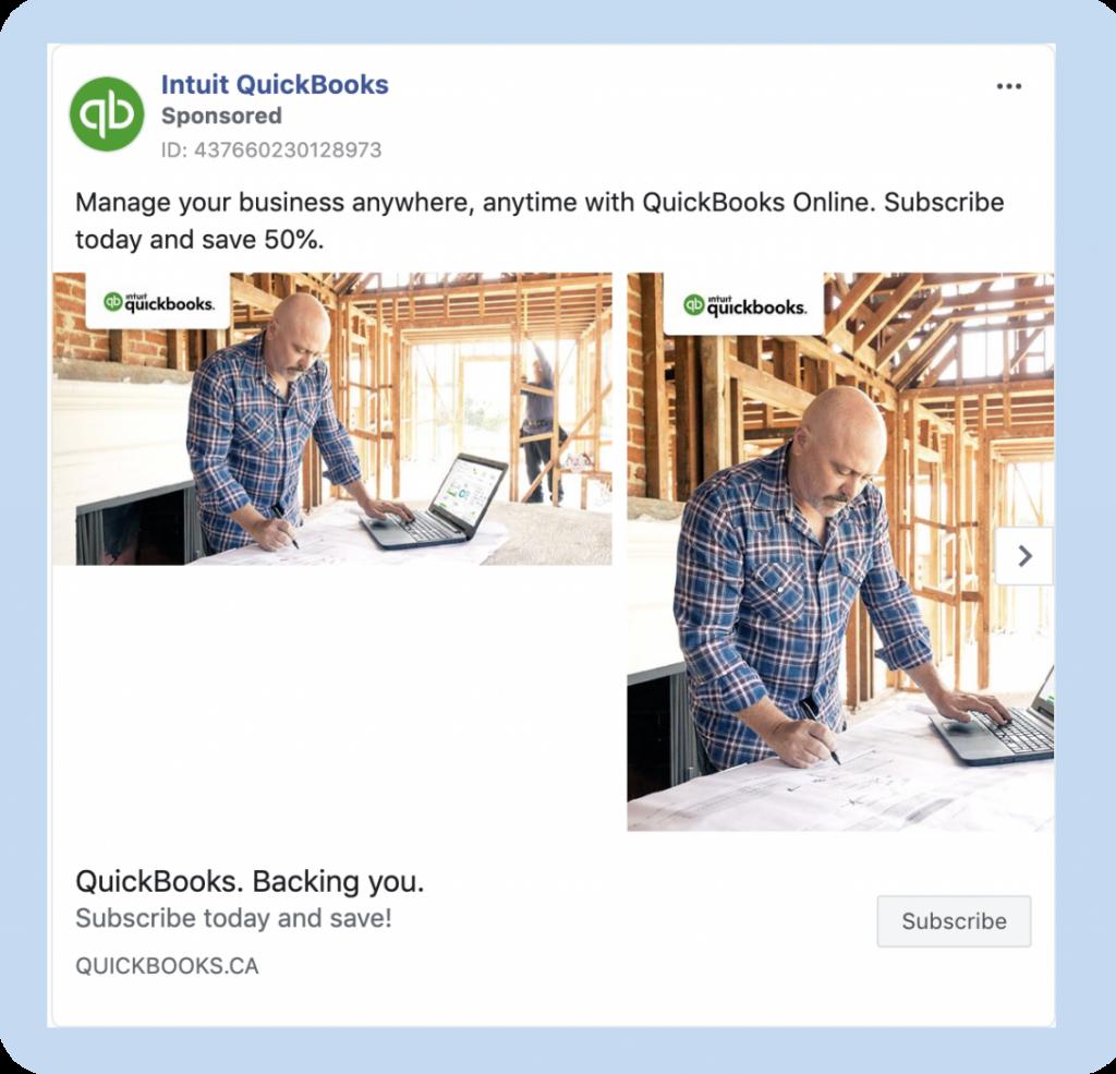 Quickbooks Facebook ad