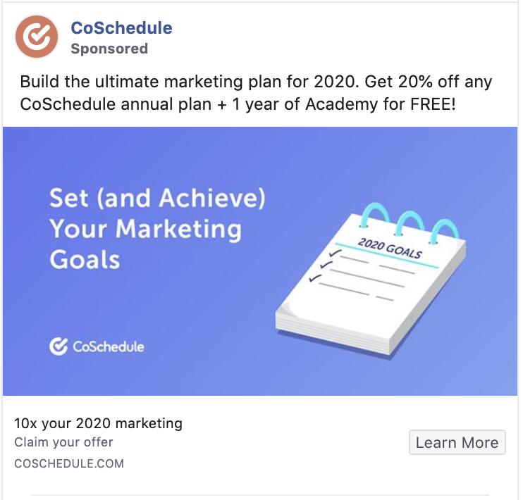 CoSchedule Facebook Retargeting