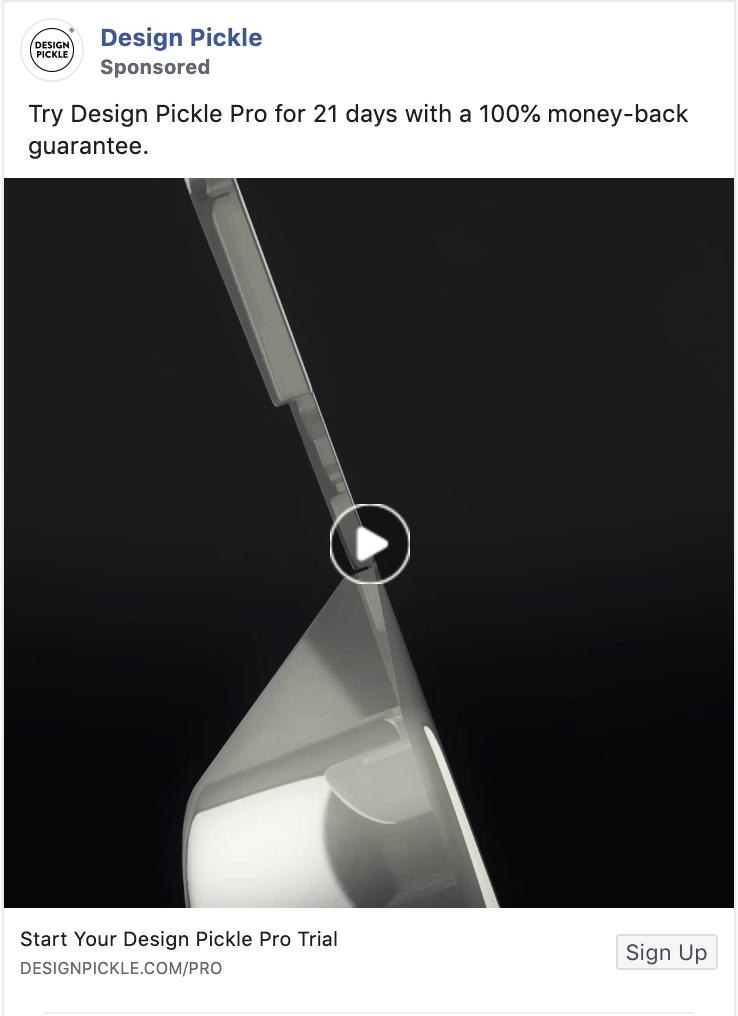 Design Pickle Retargeting Facebook