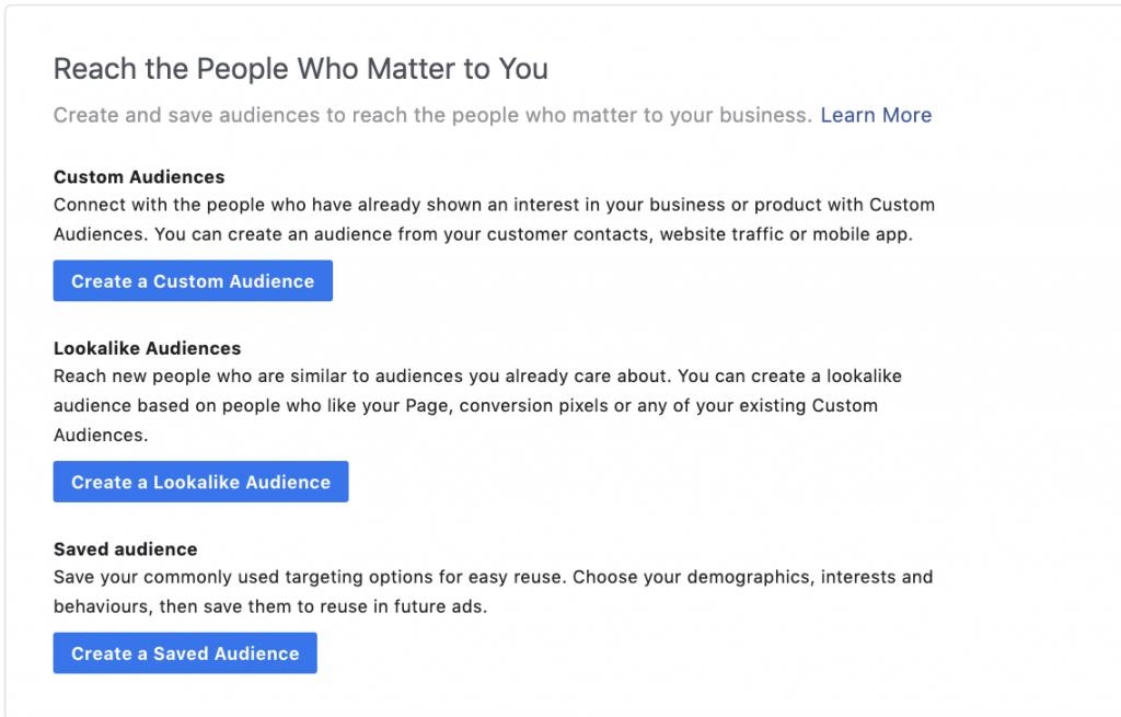 Custom audience Facebook Ads