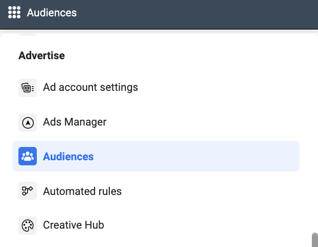 Facebook Business Manager Audience