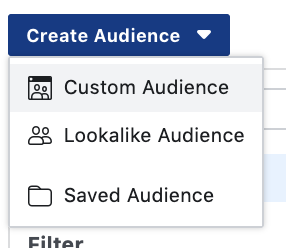 Create custom audiencea