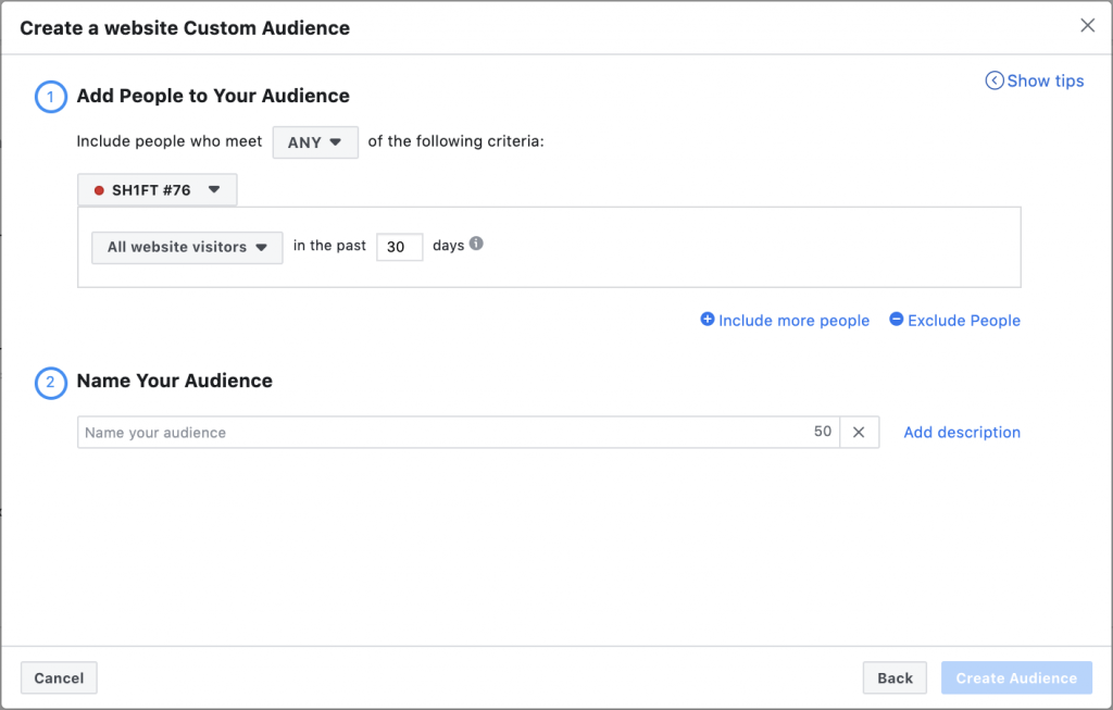 Facebook Website Visitors