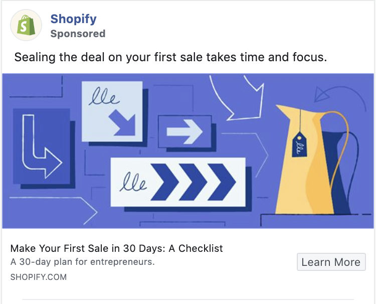 Shopify Retargeting ad