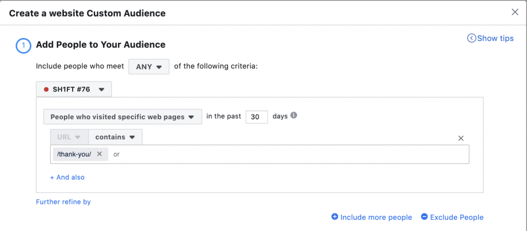 Facebook custom audience buyers