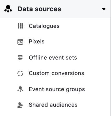 Facebook Data Sources