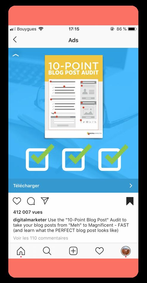 Digital Marketer - Best Instagram ads 2019