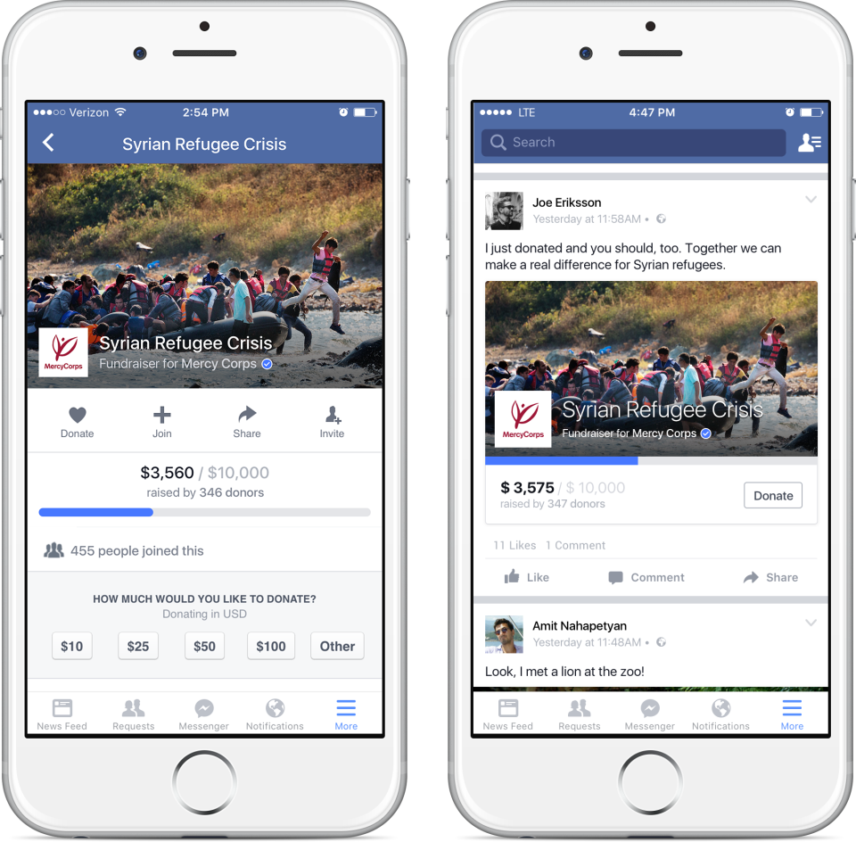 Facebook ads updates fundraising tools