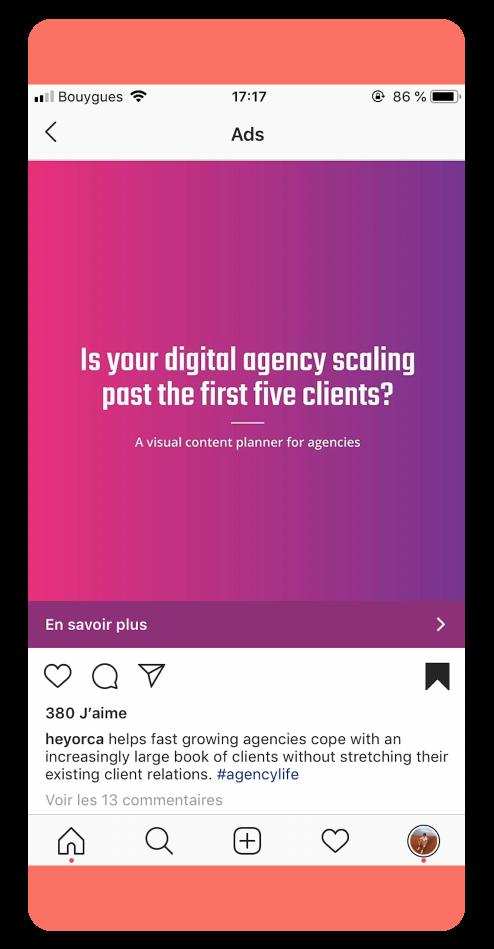 HeyOrca - Best Instagram Ads 2019
