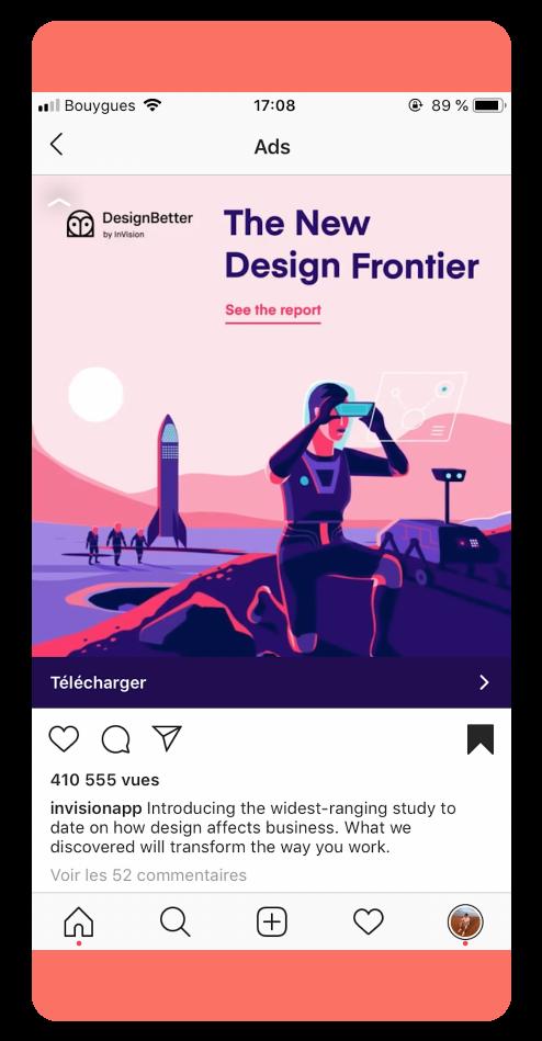 InvisionApp - Best Instagram Ads 2019