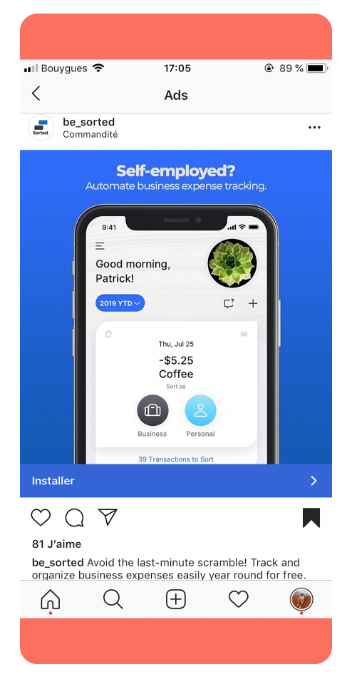 Sorted - Best Instagram Ads 2019