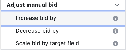 Adjusting manual bid