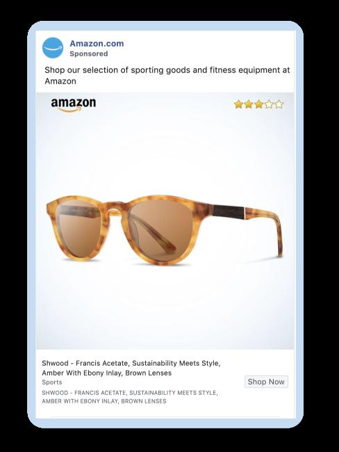 Amazon Facebook ad example