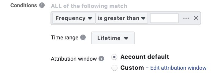 Facebook automated Rule Frequency