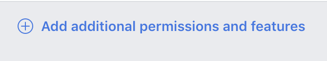 Facebook additional permissions