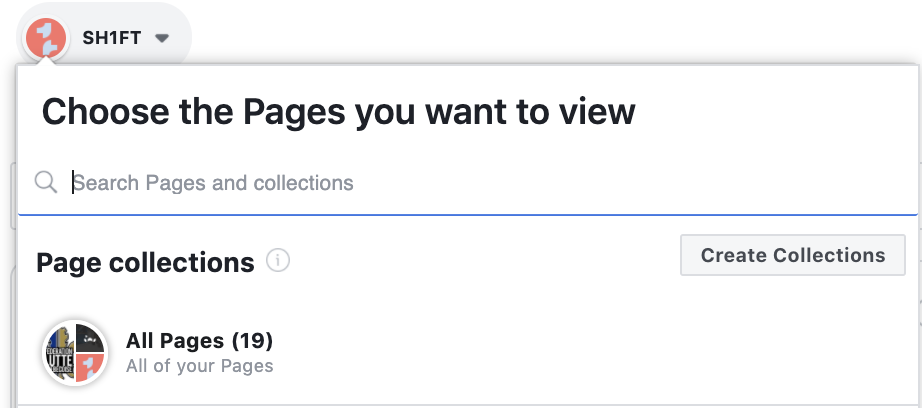 Choosing Facebook page creator studio