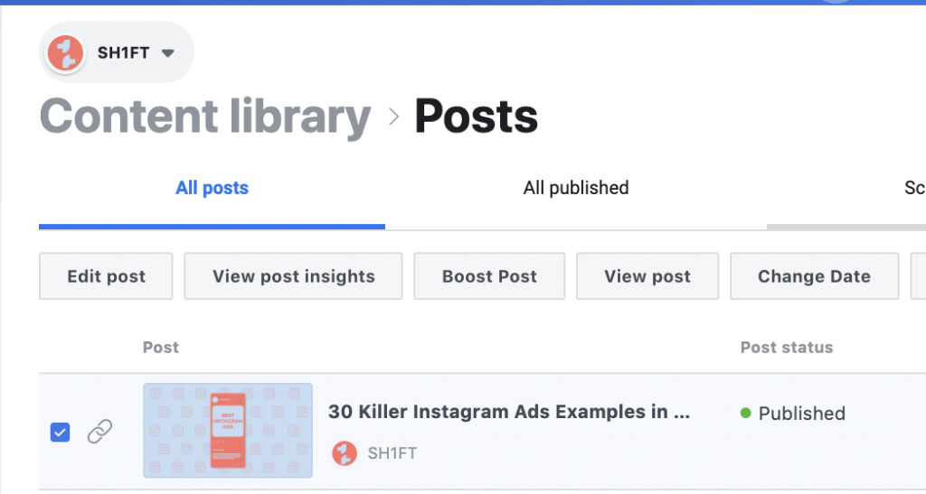 Facebook Content Library