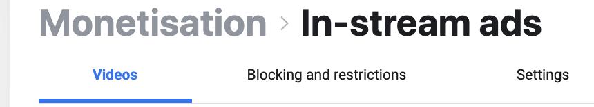 Blocking In-Stream ads