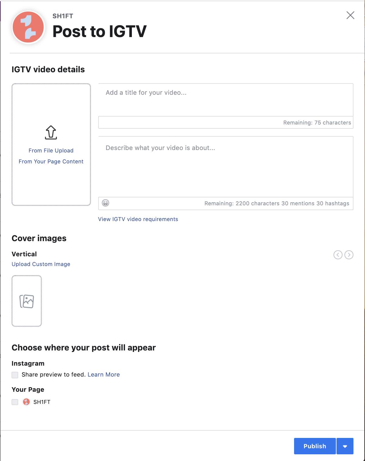IGTV Creator Studio
