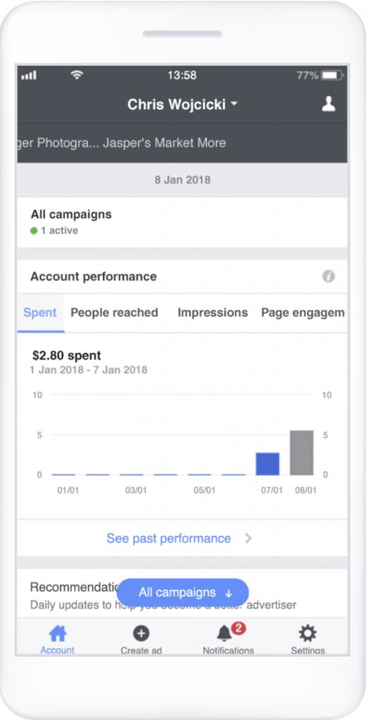 Facebook app manager