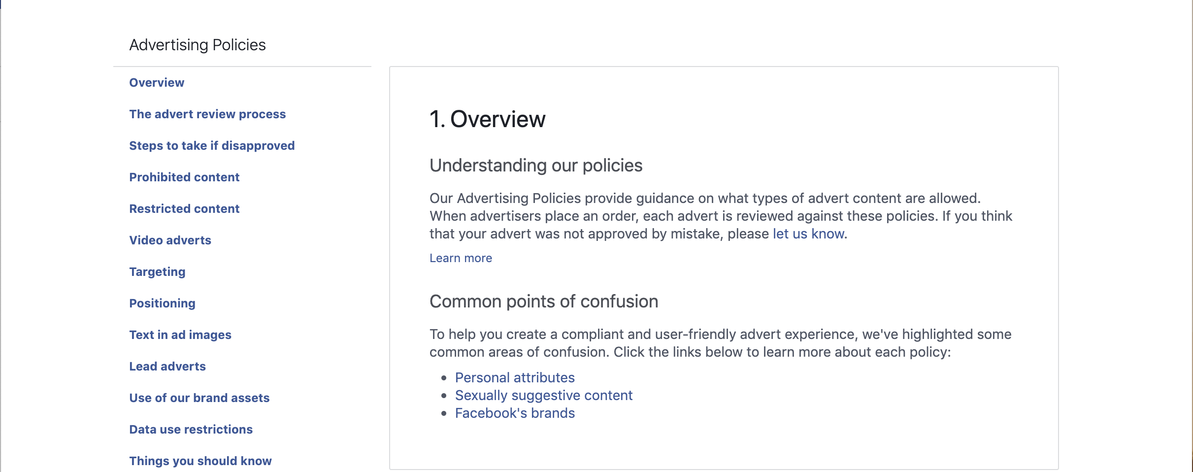 Facebook Advertising Policy