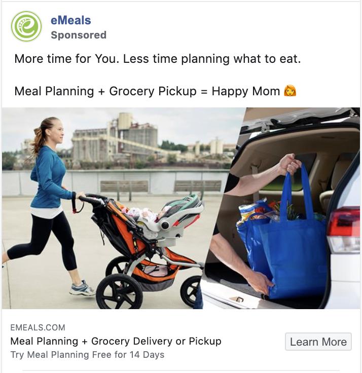 eMeal Facebook ad