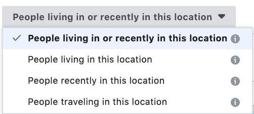 Facebook location targeting