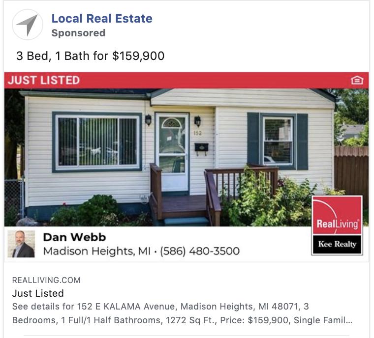 Facebook ads real estate
