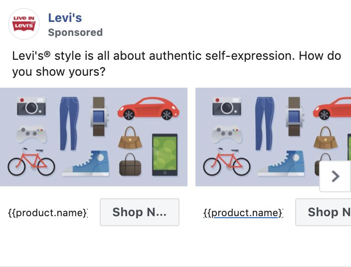 Fashion Facebook ad