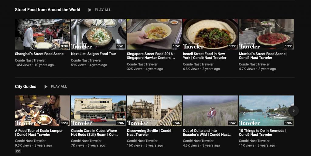 Condé Nast Traveler Youtube Series.
