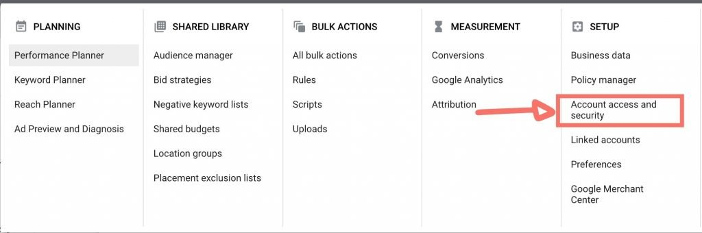 Granting Access to a Google Ads account