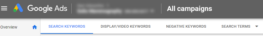 Google Ads campaign.