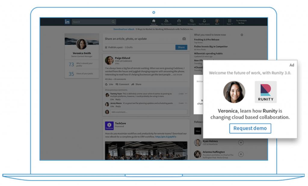 Dynamic LinkedIn ad