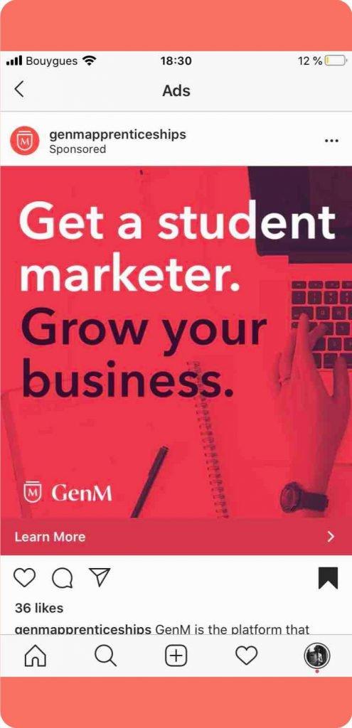 GenM best Instagram ads 2020
