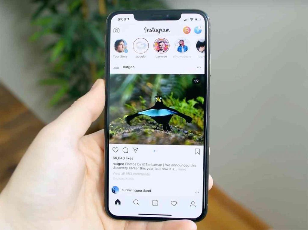 Instagram on iphone.