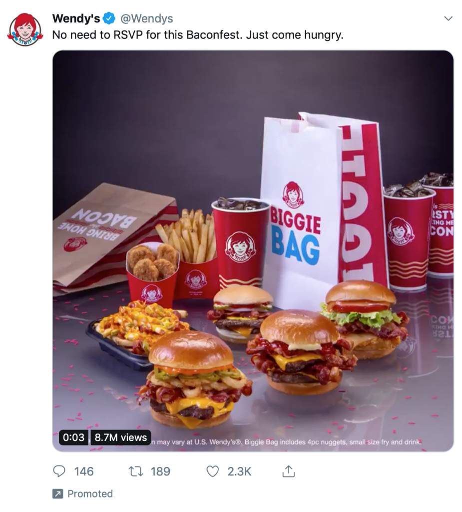 Wendy's amazing visual Twitter ad.