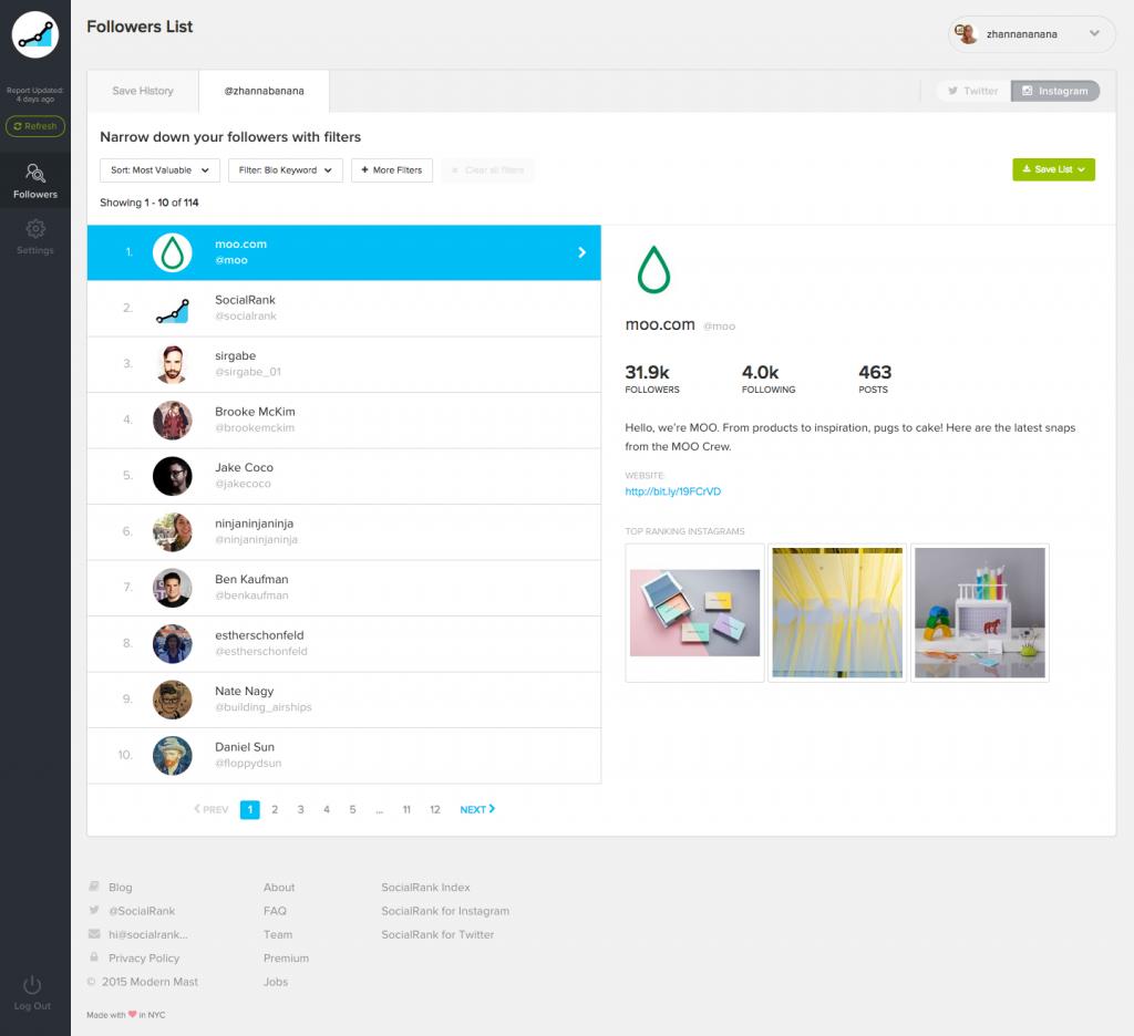 Social Rank - Marketing Tool for Instagram