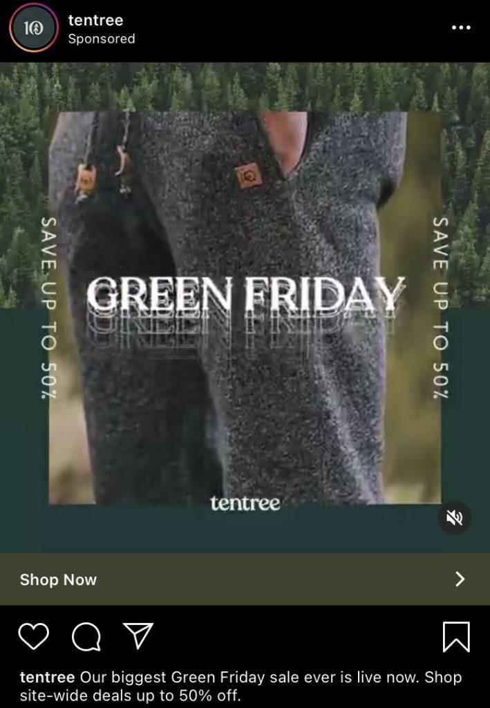 tentree instagram ad