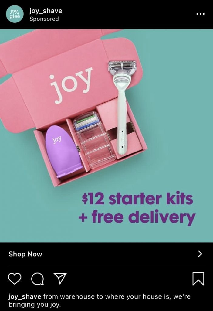 joy instagram ad