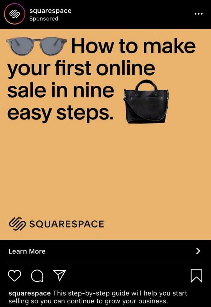 squarespace instagram ad