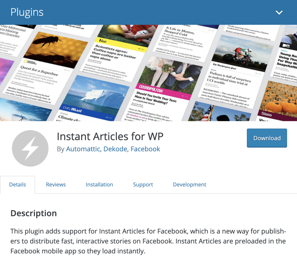 wordpress plugin instant articles