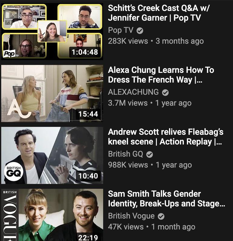tráfico recomendado del algoritmo de youtube
