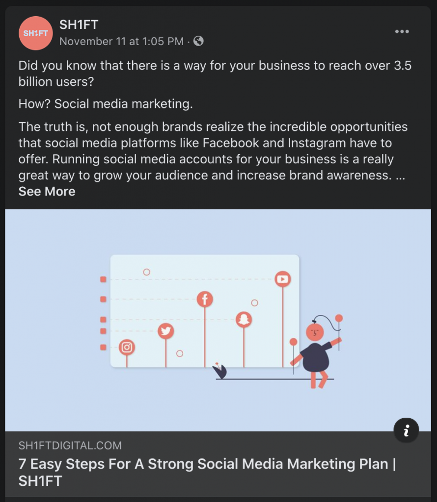 facebook engagement post example