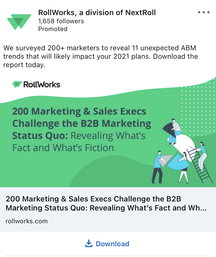rollworks linkedin ad example