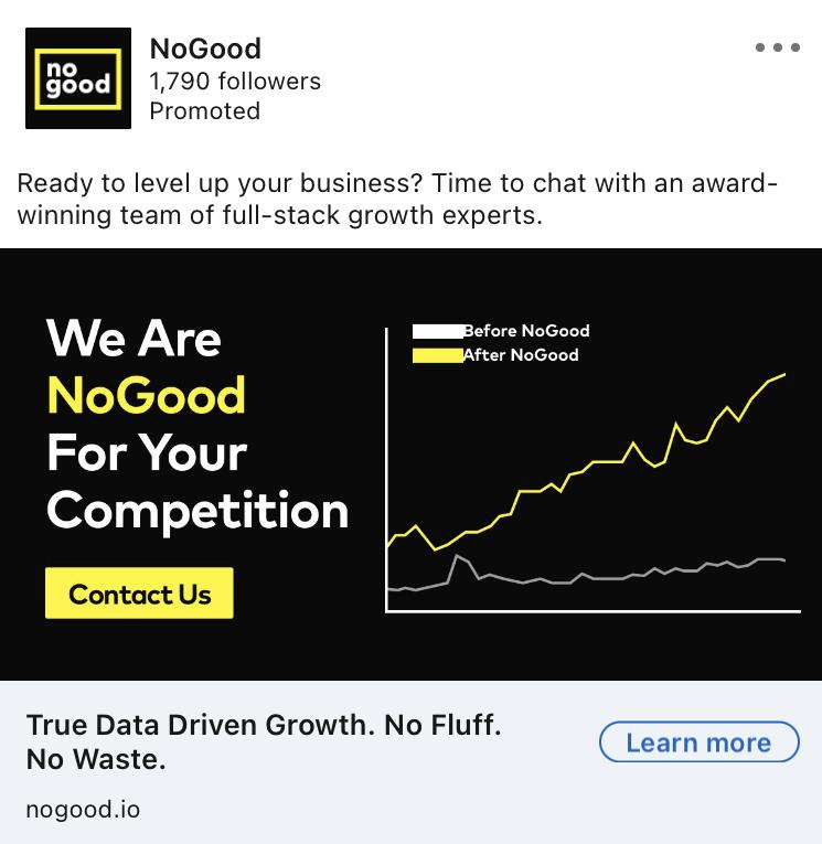 nogood linkedin ad example