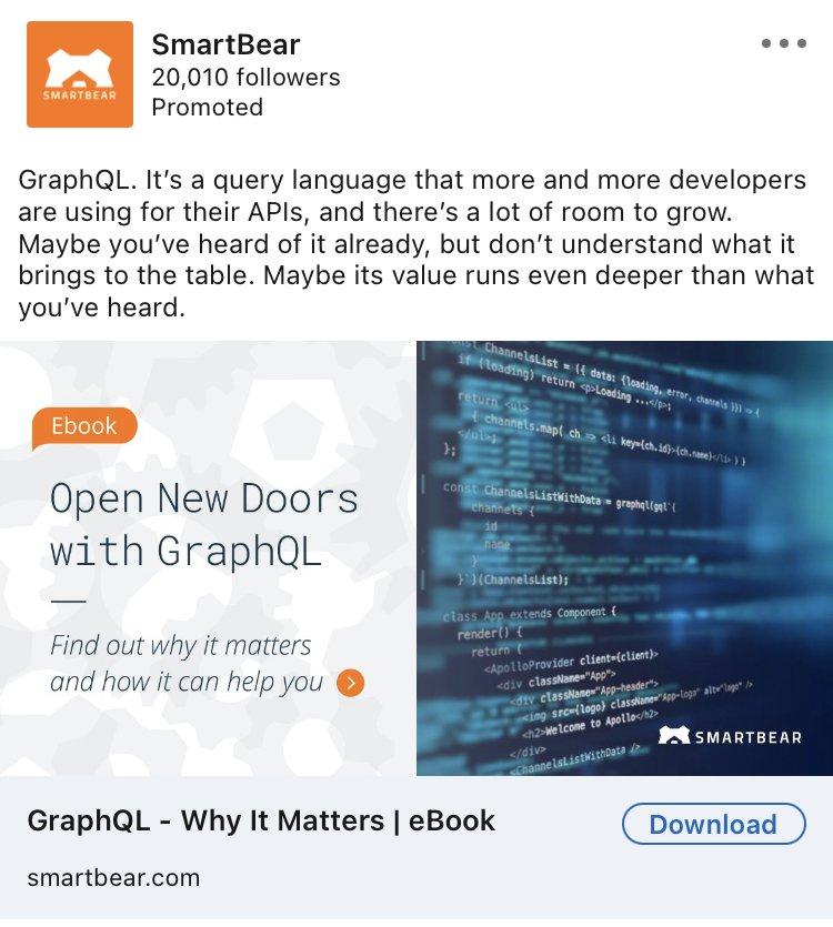 smartbear linkedin ad example