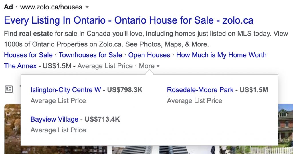google ads real estate