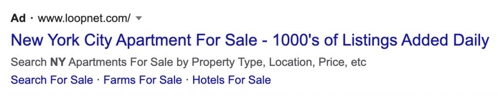 google ads for real estate