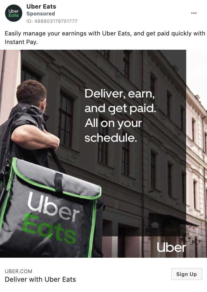 Uber Eats ad