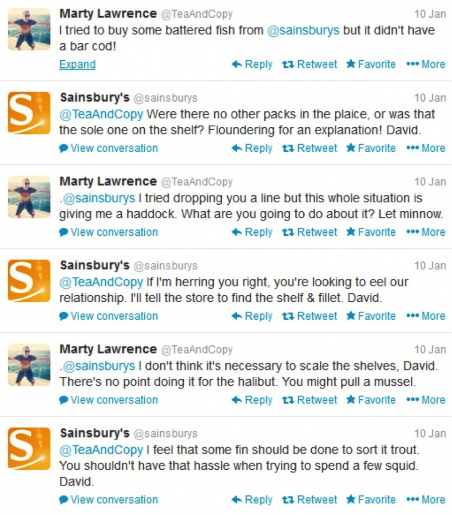 twitter interaction between customer and brand